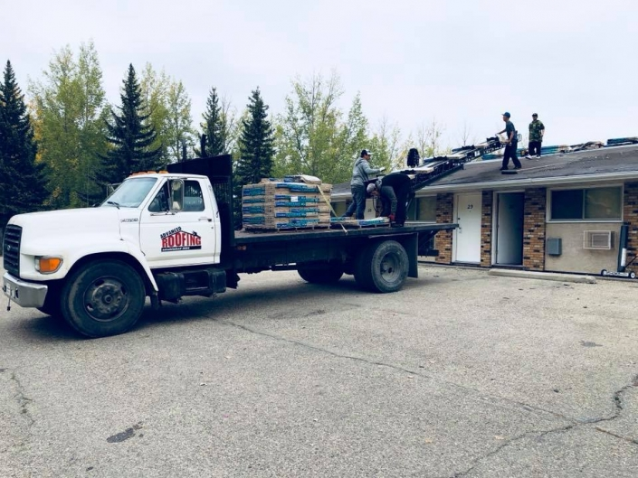 starting another job-Advnaced Roofing Moose Jaw
