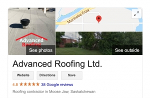 advanced roofing reviews on Google